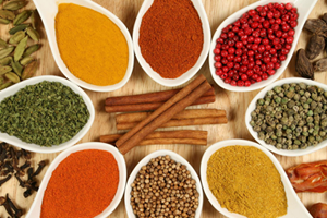 SPICES, AROMAS, FOOD COLOURS